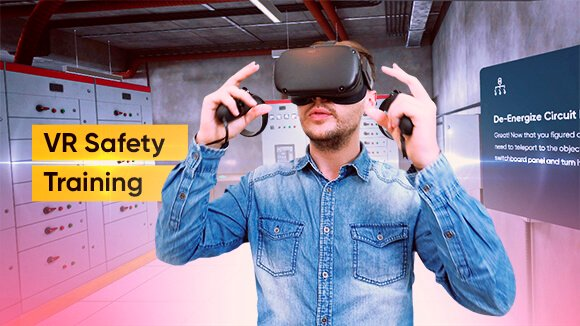 The process of training in virtual reality on occupational Safety and Health using oculus rift VR headset