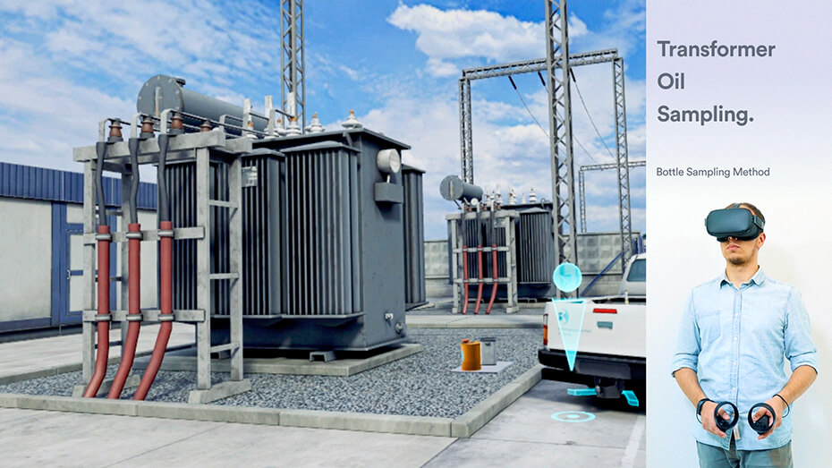 Transformer Oil Sampling Virtual Reality Training in the Electric Power Industry